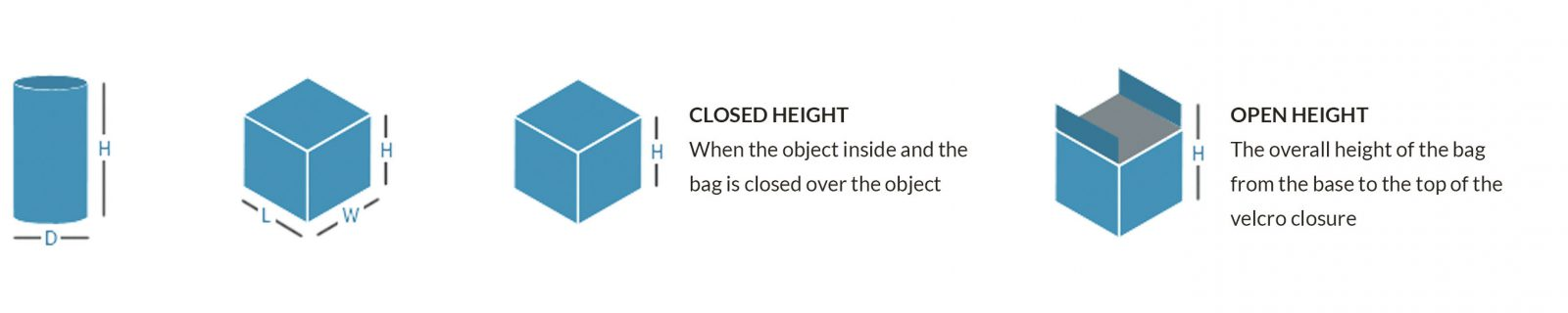 Closed & Open Height Measurements of Lifting Bags