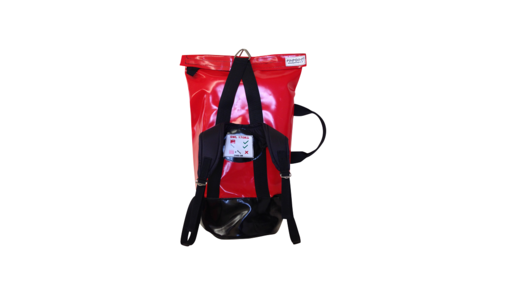 Backpack style Lifting Bags (STAB30 and PPE400), both shown in red